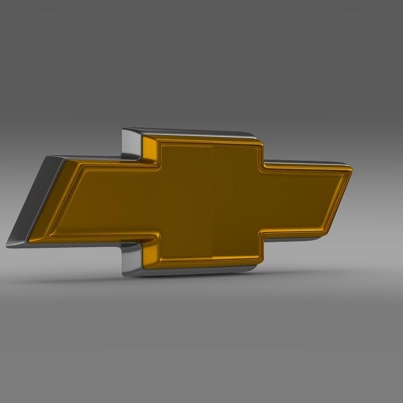 chevrolet logo 3d model 3ds max fbx c4d lwo ma mb hrc xsi obj 117024