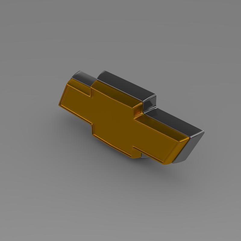 chevrolet logo 3d model 3ds max fbx c4d lwo ma mb hrc xsi obj 117025