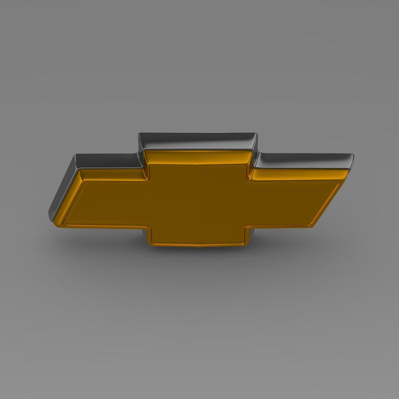 chevrolet logo 3d model 3ds max fbx c4d lwo ma mb hrc xsi obj 117026
