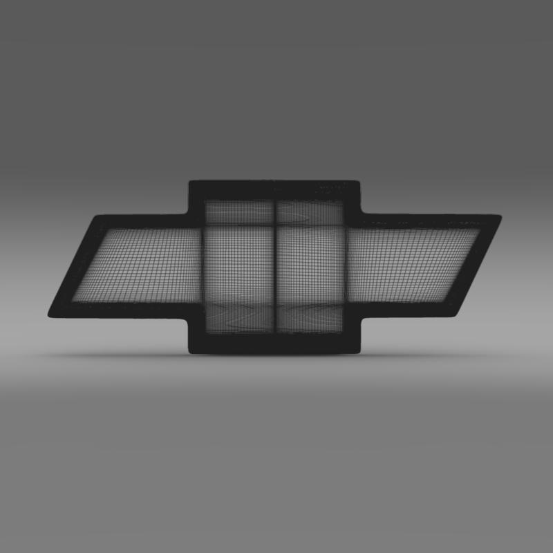 chevrolet logo 3d model 3ds max fbx c4d lwo ma mb hrc xsi obj 117028