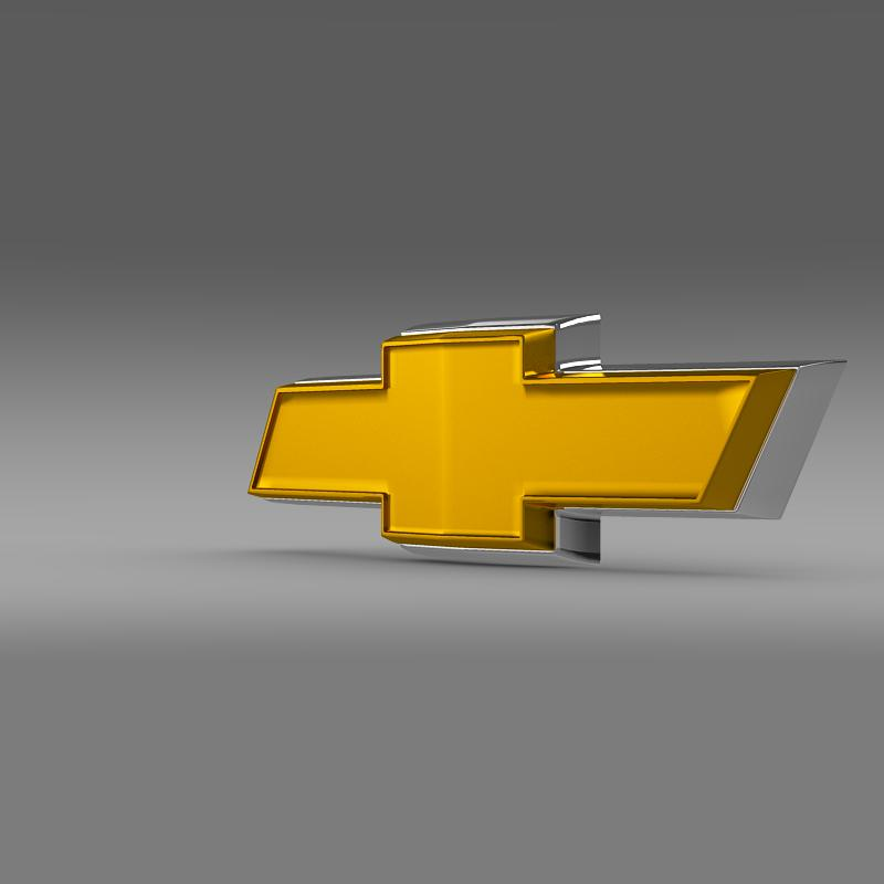 chevrolet new logo 3d model 3ds max fbx c4d lwo ma mb hrc xsi obj 152245