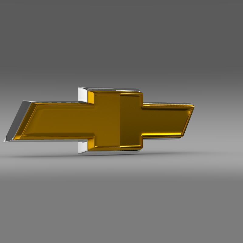 chevrolet new logo 3d model 3ds max fbx c4d lwo ma mb hrc xsi obj 152247