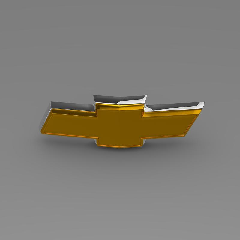 chevrolet new logo 3d model 3ds max fbx c4d lwo ma mb hrc xsi obj 152249
