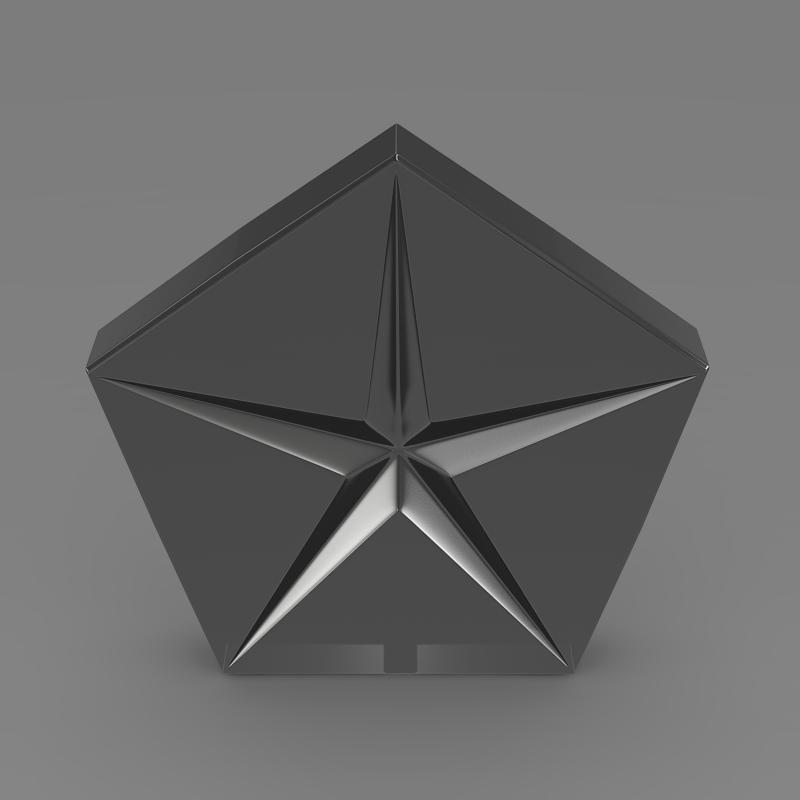 chrysler company logo 3d model 3ds max fbx c4d lwo ma mb hrc xsi obj 117051