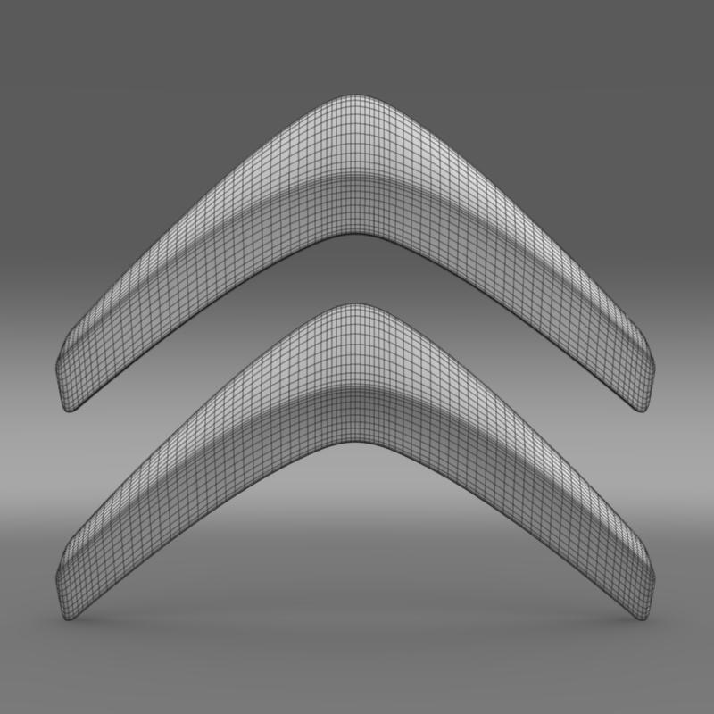 Citroen Logo V1 3d Model Flatpyramid