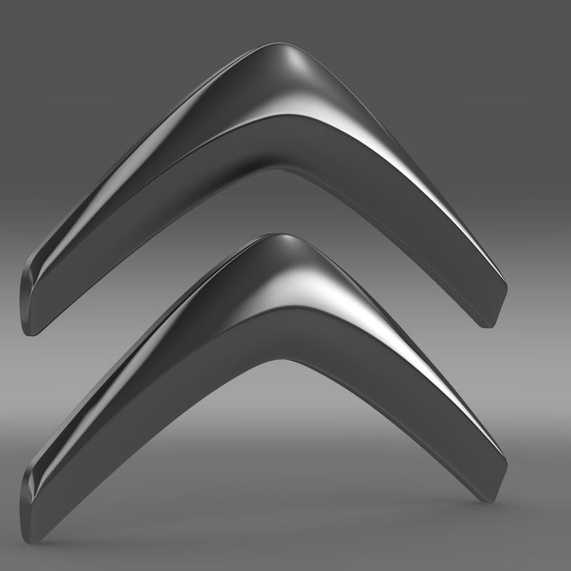 Citroen Logo V1 3d Model Buy Citroen Logo V1 3d Model
