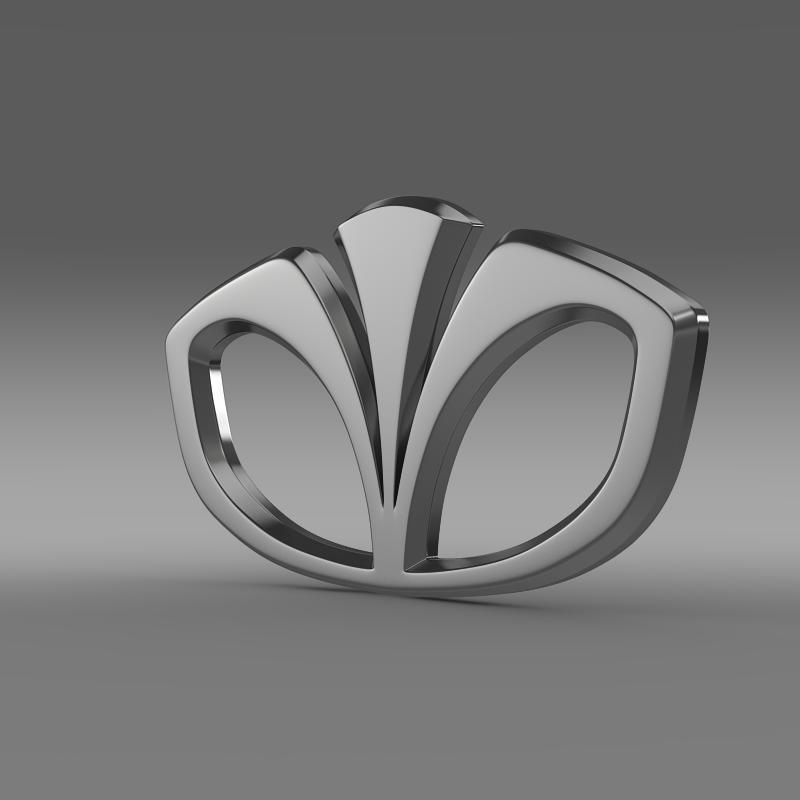 daewoo logo 2 3d model 3ds max fbx c4d lwo ma mb hrc xsi obj 117173