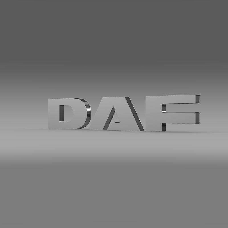 daf logo 3d model 3ds max fbx c4d lwo ma mb hrc xsi obj 119070