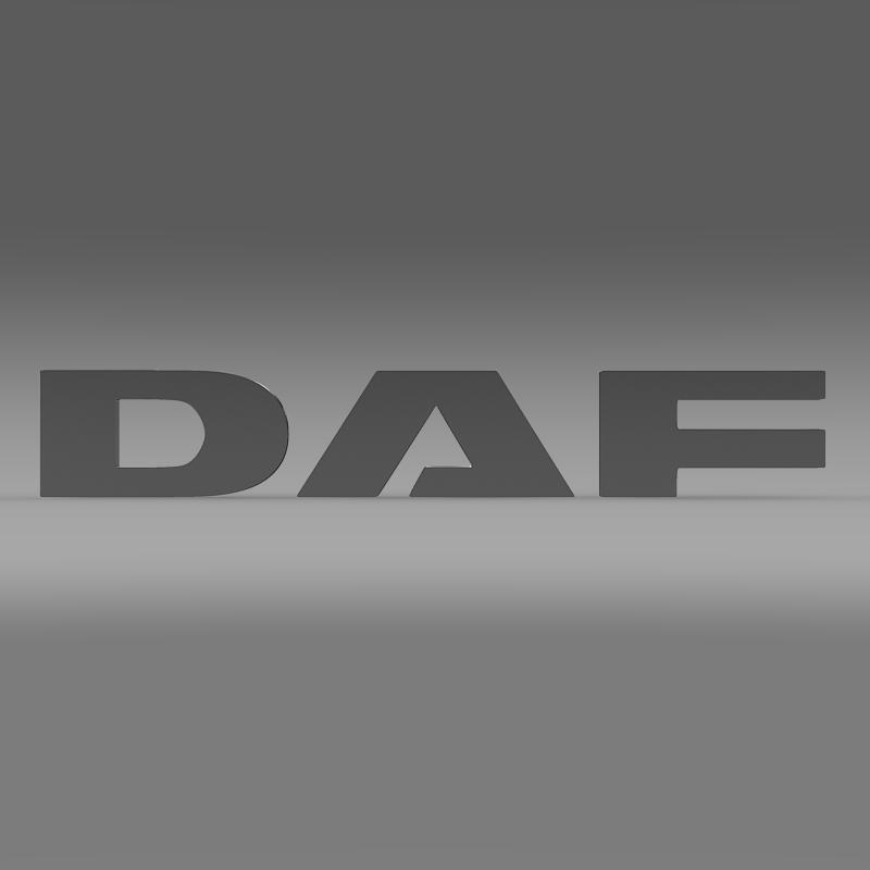 daf logo 3d model 3ds max fbx c4d lwo ma mb hrc xsi obj 119071