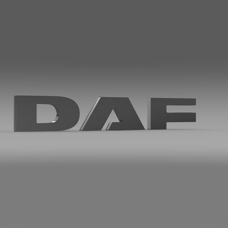 daf logo 3d model 3ds max fbx c4d lwo ma mb hrc xsi obj 119072