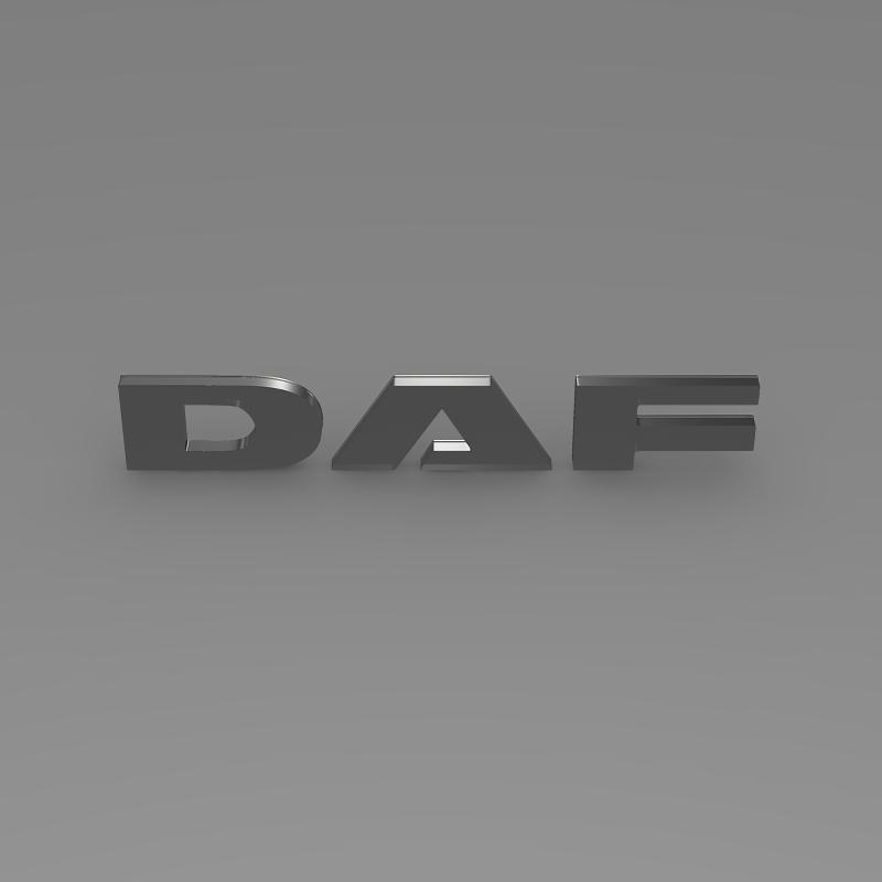 daf logo 3d model 3ds max fbx c4d lwo ma mb hrc xsi obj 119074