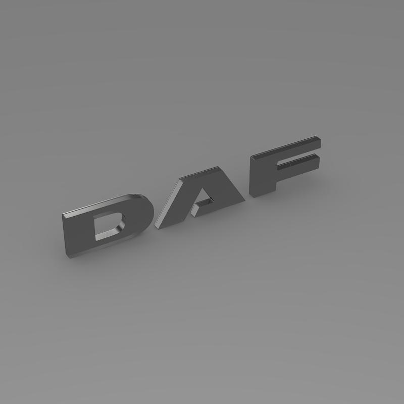 daf logo 3d model 3ds max fbx c4d lwo ma mb hrc xsi obj 119075