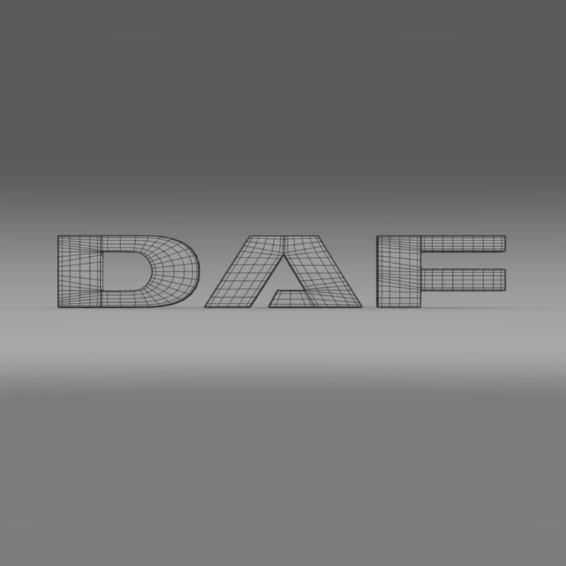 daf logo 3d model 3ds max fbx c4d lwo ma mb hrc xsi obj 119076