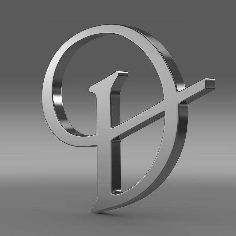 daimler 3d logo 3d model 3ds max fbx c4d lwo ma mb hrc xsi obj 119097