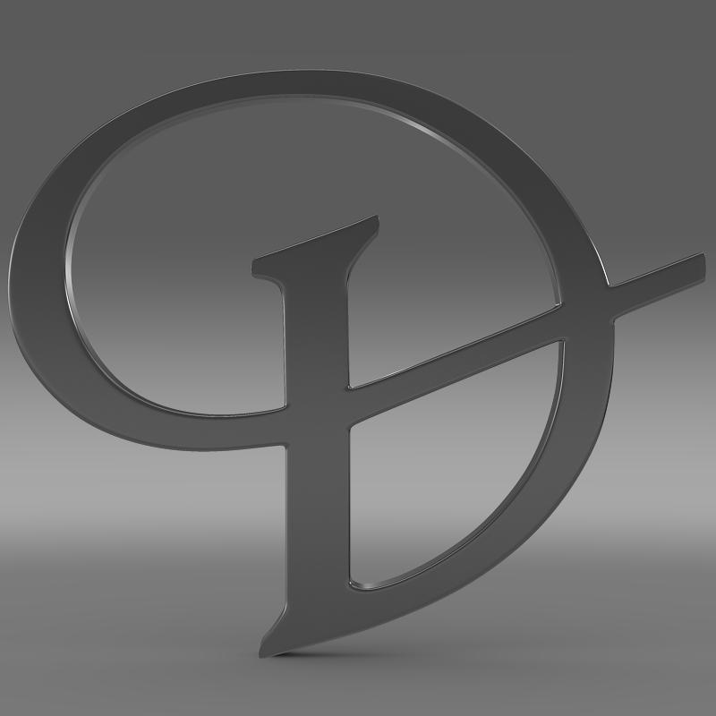 daimler 3d logo 3d model 3ds max fbx c4d lwo ma mb hrc xsi obj 119098