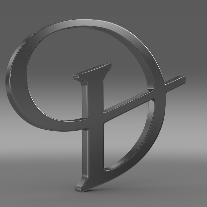 daimler 3d logo 3d model 3ds max fbx c4d lwo ma mb hrc xsi obj 119099