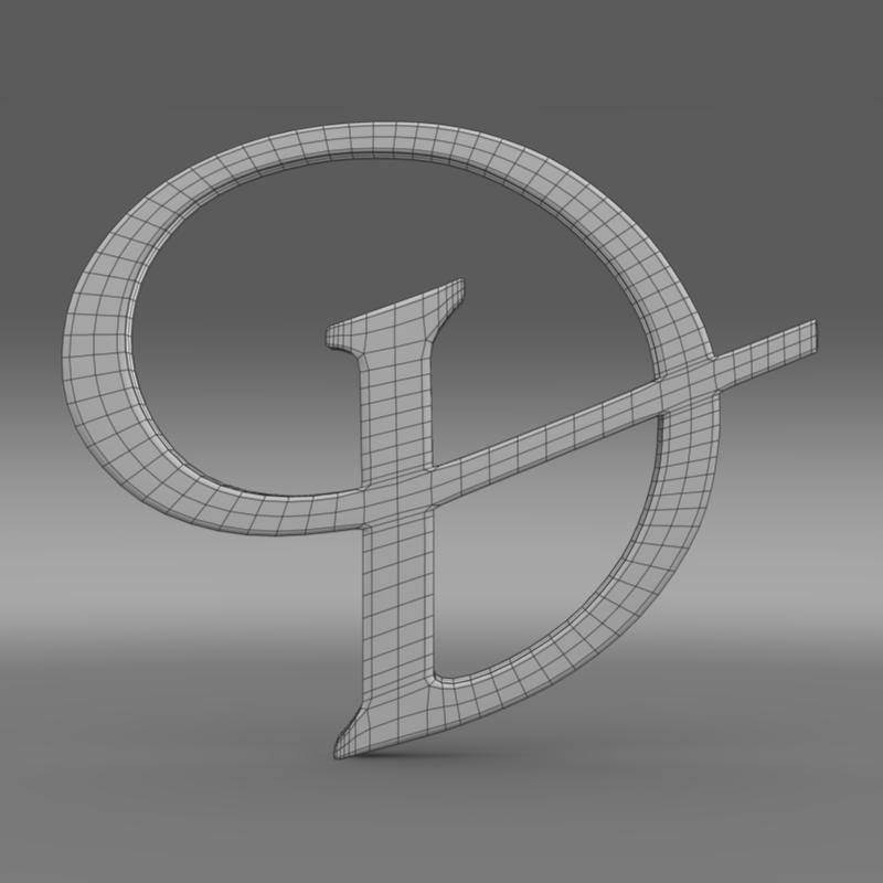 daimler 3d logo 3d model 3ds max fbx c4d lwo ma mb hrc xsi obj 119103