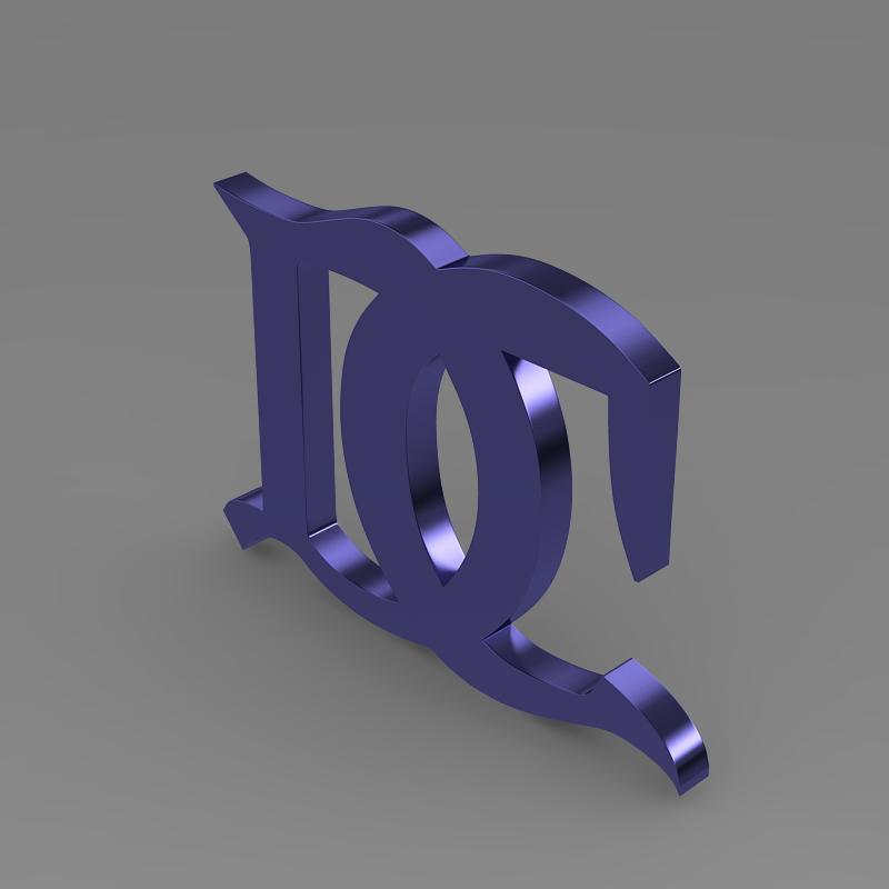 darracq logo 3d model 3ds max fbx c4d lwo ma mb hrc xsi obj 152823