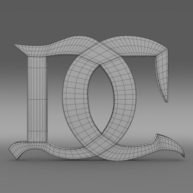 darracq logo 3d model 3ds max fbx c4d lwo ma mb hrc xsi obj 152826