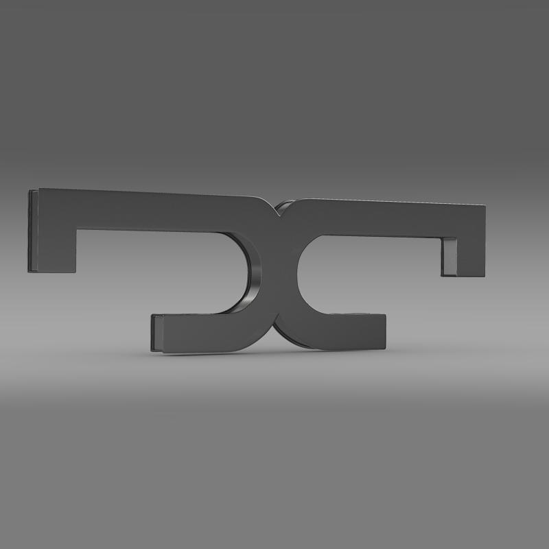 de tomaso logo 3d model 3ds max fbx c4d lwo ma mb hrc xsi obj 117201