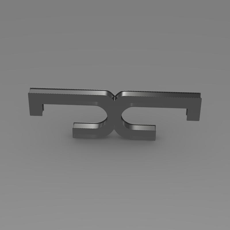de tomaso logo 3d model 3ds max fbx c4d lwo ma mb hrc xsi obj 117203