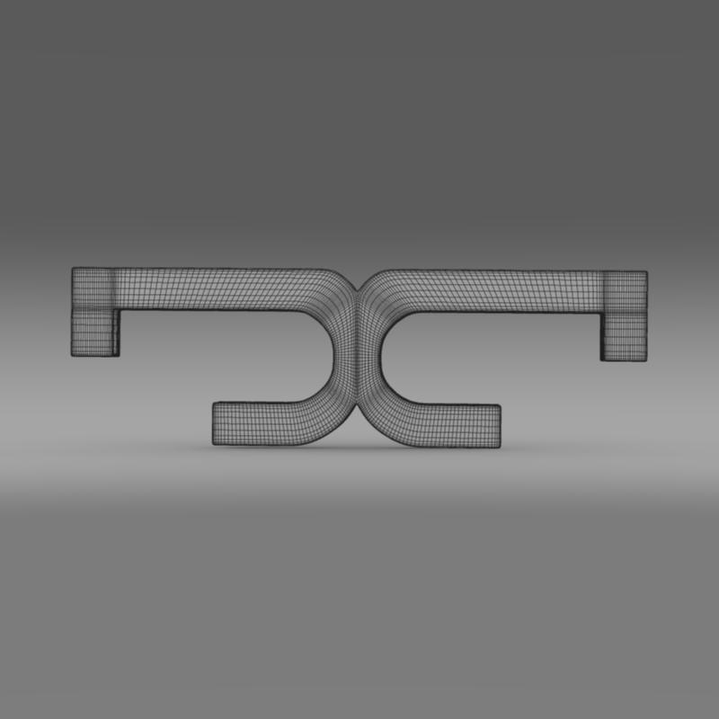 de tomaso logo 3d model 3ds max fbx c4d lwo ma mb hrc xsi obj 117205