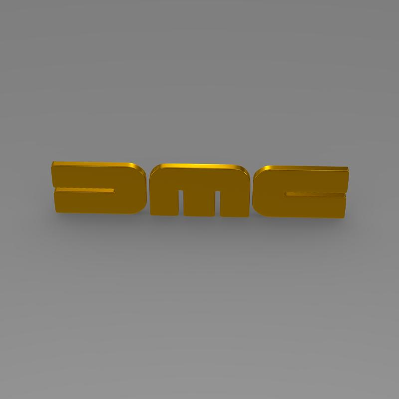 dmc logo 3d modelis 3ds max fbx c4d lwo ma mb hrc xsi obj 119108
