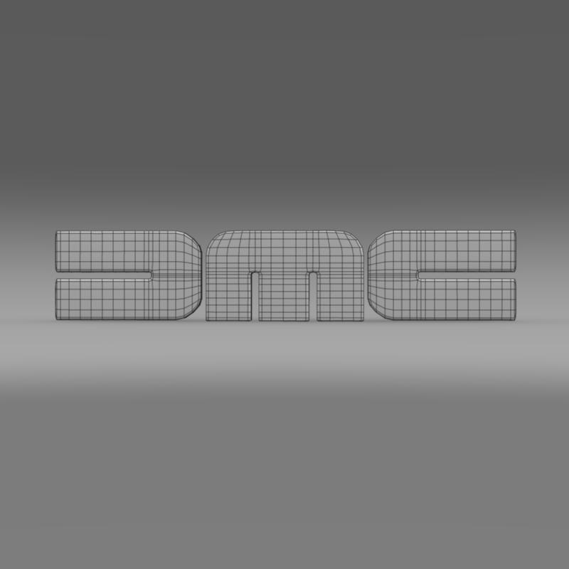 dmc logo 3d modelis 3ds max fbx c4d lwo ma mb hrc xsi obj 119110