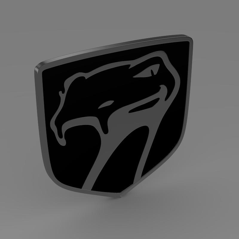 dodge viper sneaky pete 1992 logo 3d model 3ds max fbx c4d lwo ma mb hrc xsi obj 152289