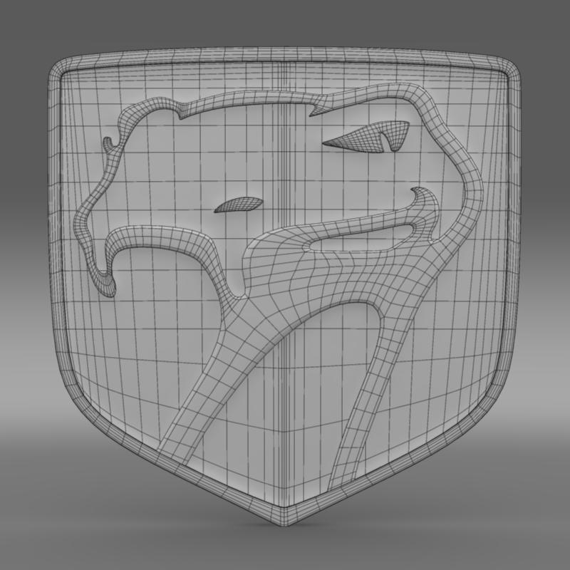 dodge viper sneaky pete 1992 logo 3d model 3ds max fbx c4d lwo ma mb hrc xsi obj 152292