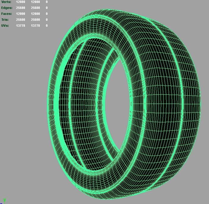 drift racing tire 3d model 3ds fbx c4d ma mb hrc xsi obj 128299