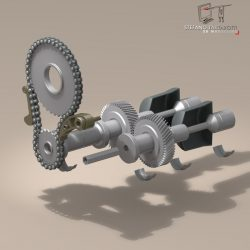 driveshaft gear and sprocket assembly ( 80.97KB jpg by tartino )