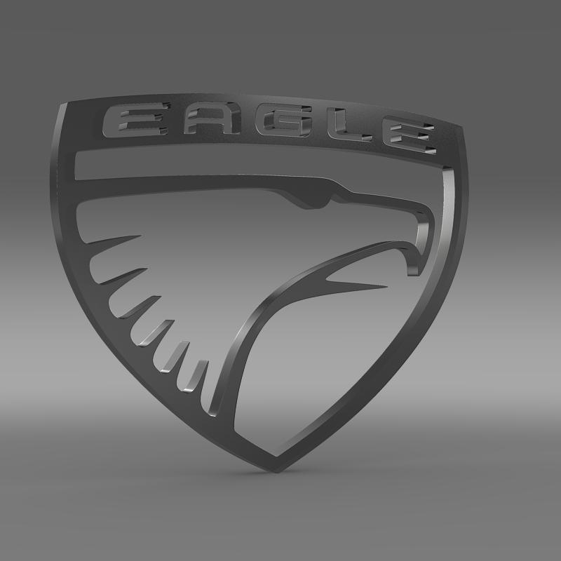 eagle logo 3d model 3ds max fbx c4d lwo ma mb hrc xsi obj 152849