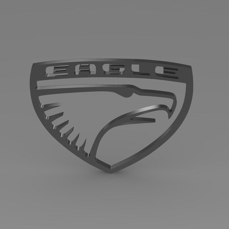eagle logo 3d model 3ds max fbx c4d lwo ma mb hrc xsi obj 152852
