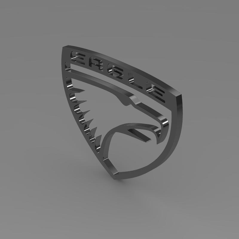 eagle logo 3d model 3ds max fbx c4d lwo ma mb hrc xsi obj 152853