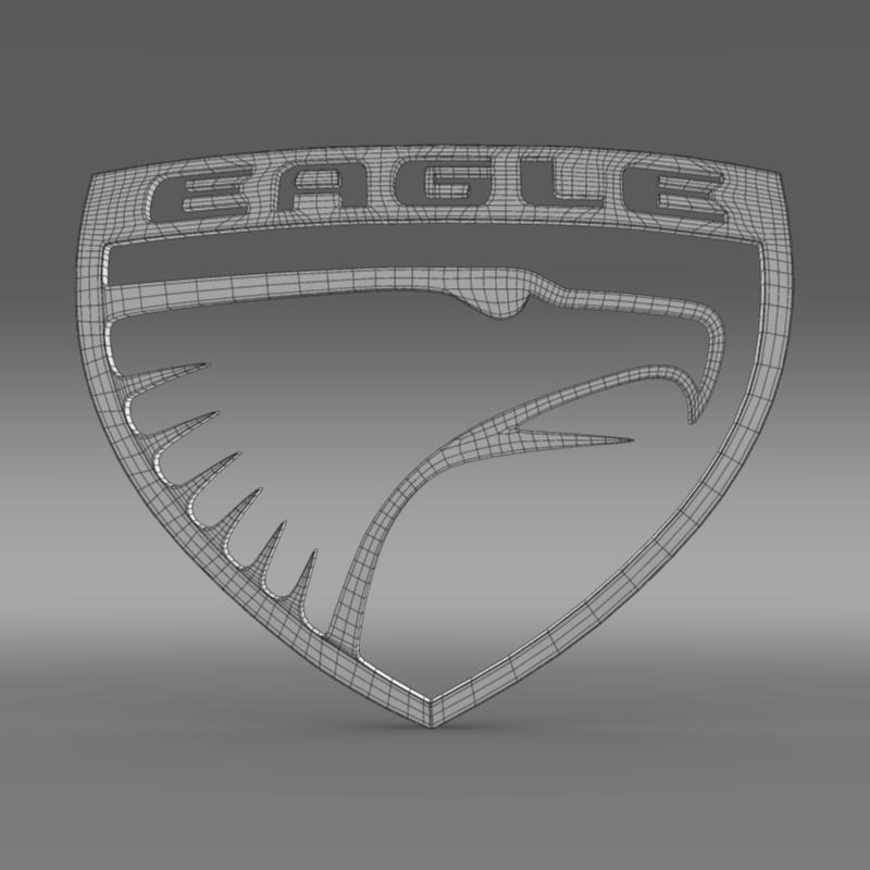 eagle logo 3d model 3ds max fbx c4d lwo ma mb hrc xsi obj 152854
