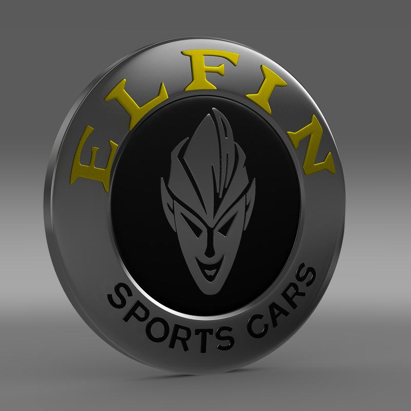 elfin logo 3d model 3ds max fbx c4d lwo ma mb hrc xsi obj 152856