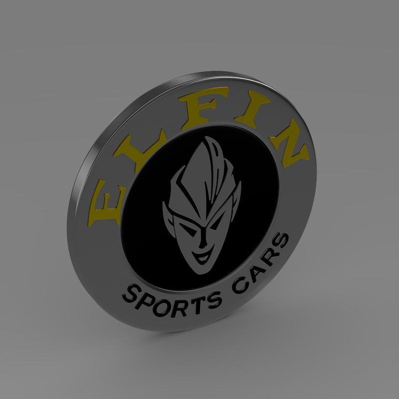 elfin logo 3d model 3ds max fbx c4d lwo ma mb hrc xsi obj 152859