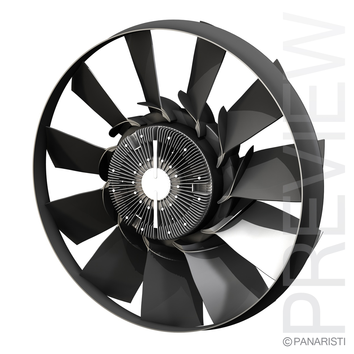 engine cooling fan 2 3d model 3ds c4d lwo obj 129277