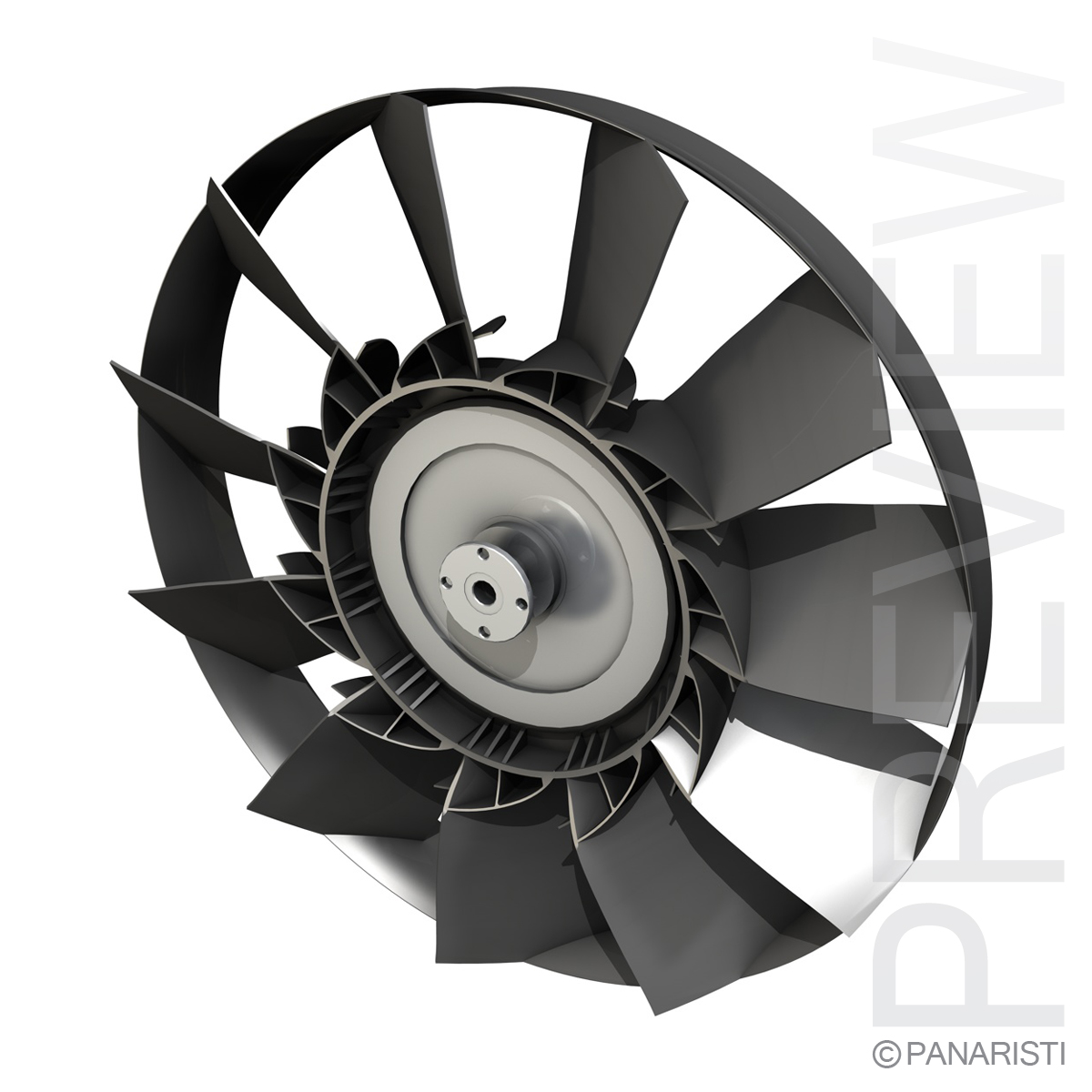 engine cooling fan 2 3d model 3ds c4d lwo obj 129279