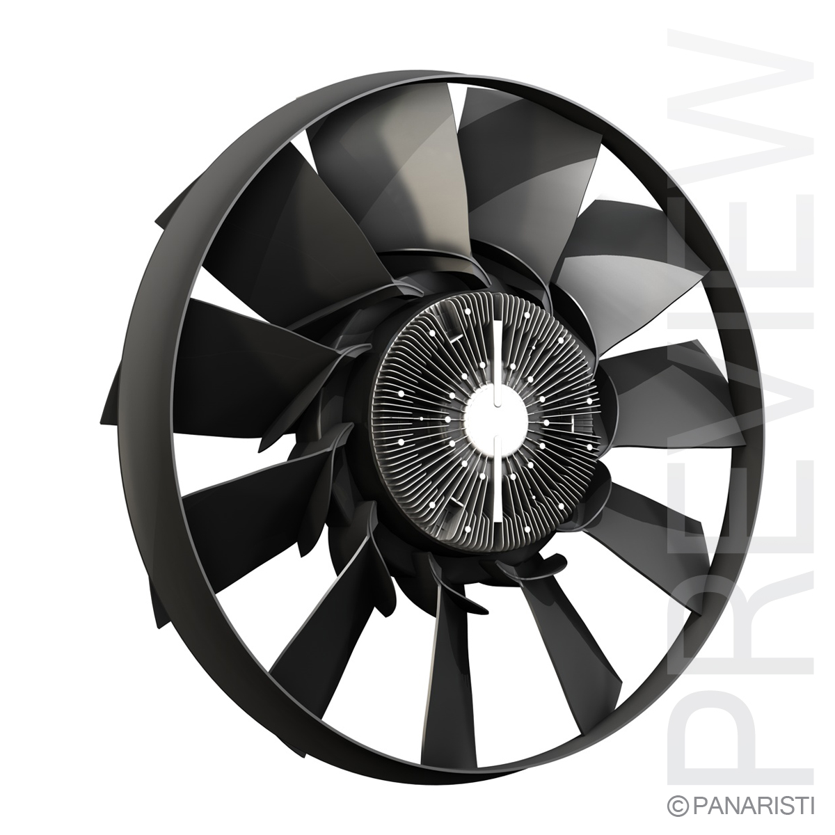 Engine cooling fan 2 3d model 3ds c4d lwo lws lw obj 129278
