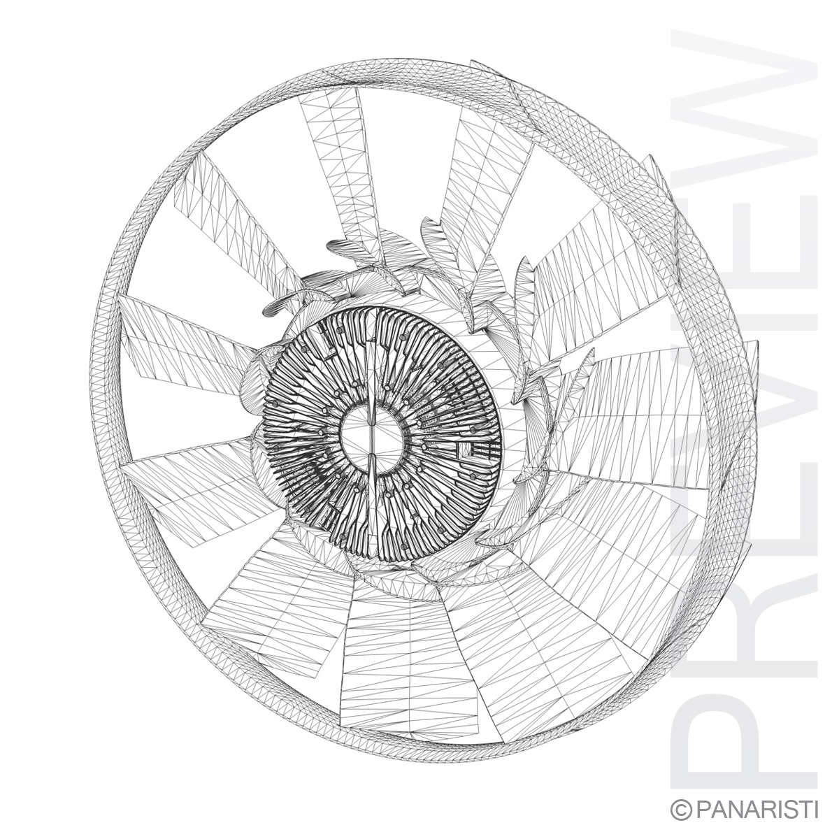 Engine cooling fan 2 3d model 3ds c4d lwo lws lw obj 129283