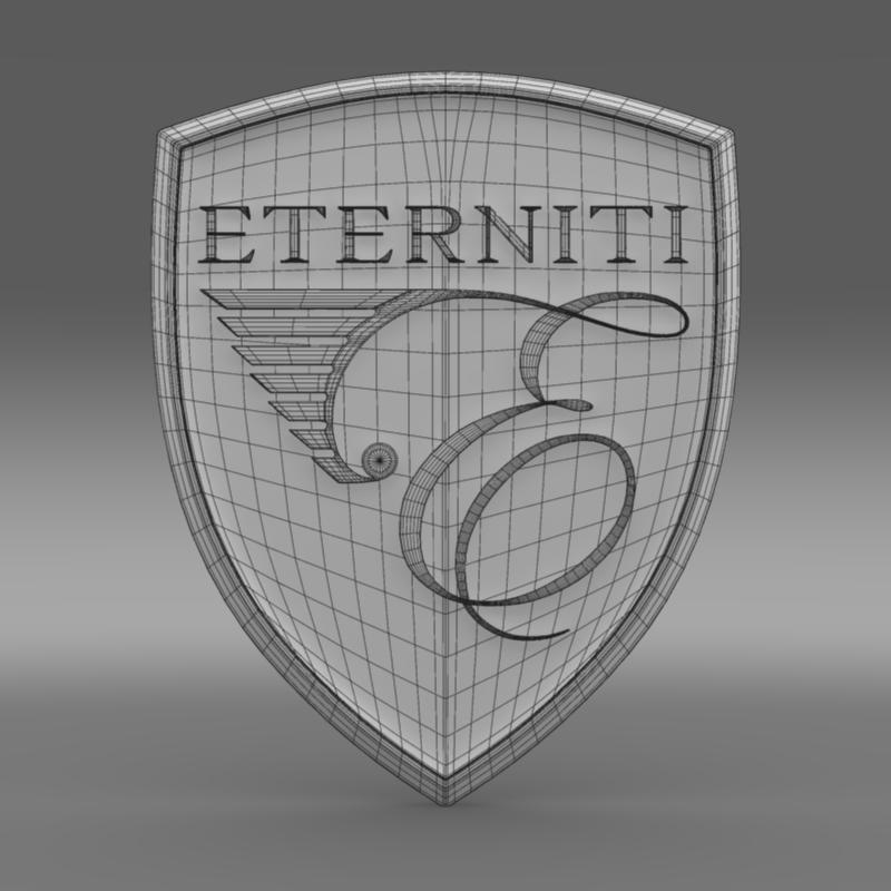 eternity logo 3d model 3ds max fbx c4d lwo ma mb hrc xsi obj 152875