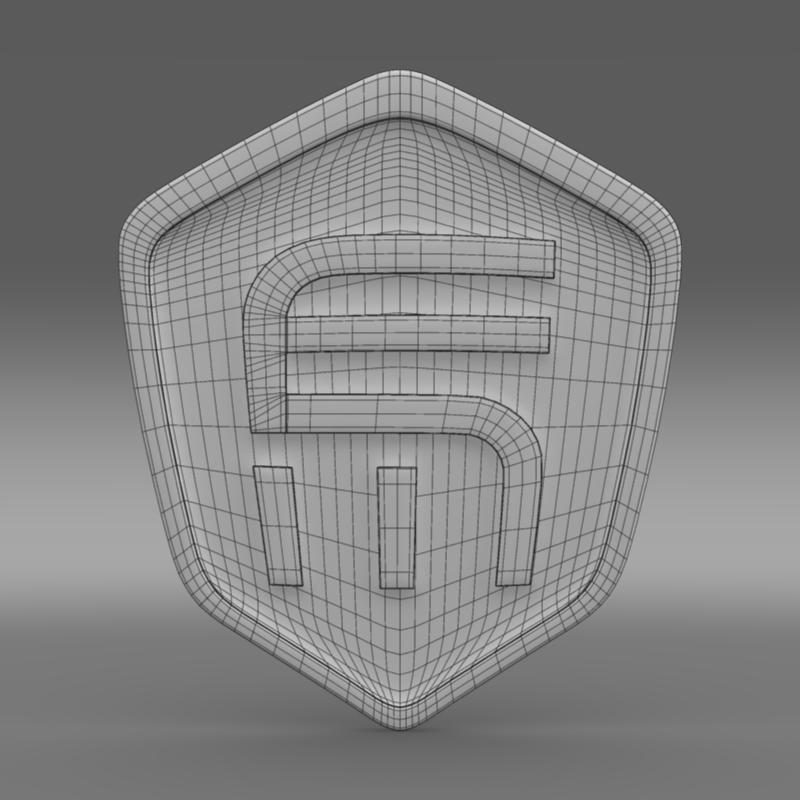 exagon logo 3d model 3ds max fbx c4d lwo ma mb hrc xsi obj 152882