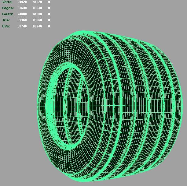 f1 bridgestone tire 3d model 3ds fbx c4d lwo ma mb hrc xsi obj 128329