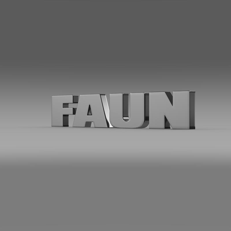faun logo 3d model 3ds max fbx c4d lwo ma mb hrc xsi obj 152883