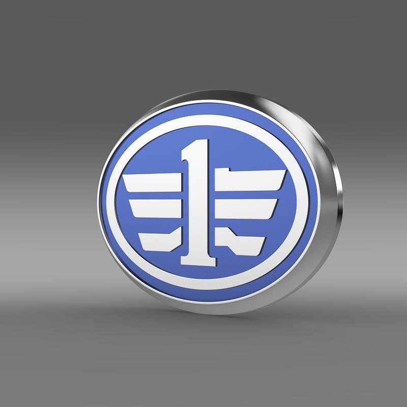 faw logo 3d model 3ds max fbx c4d lwo ma mb hrc xsi obj 152890