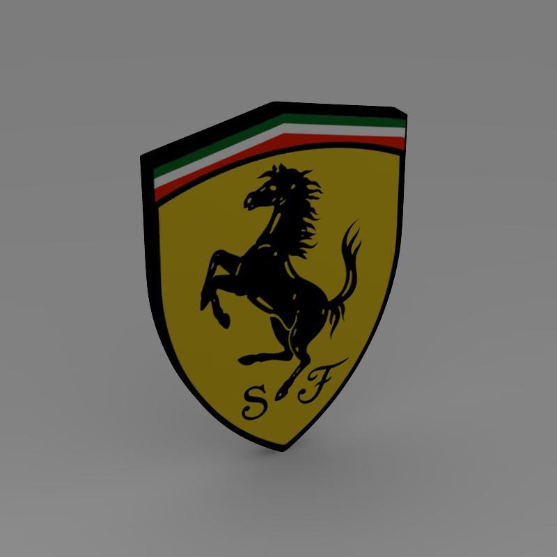 ferarri logo 3d modelis 3ds max fbx c4d lwo ma mb hrc xsi obj 118020