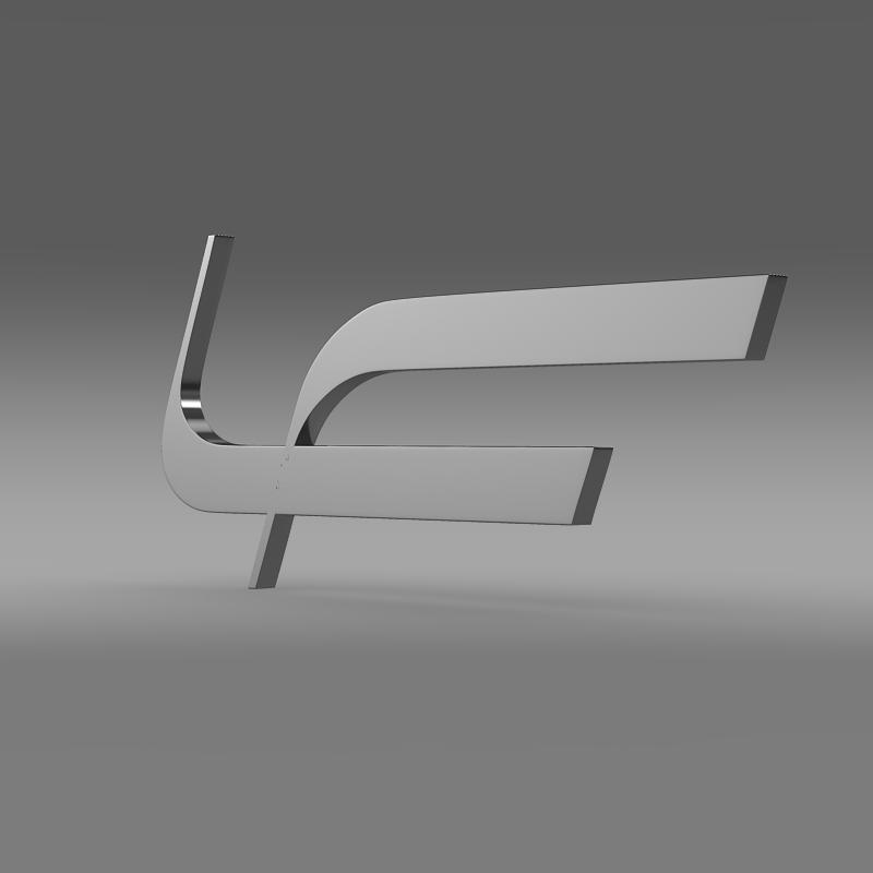 fioravanti logo 3d model 3ds max fbx c4d lwo ma mb hrc xsi obj 117492