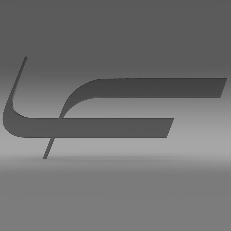 fioravanti logo 3d model 3ds max fbx c4d lwo ma mb hrc xsi obj 117493